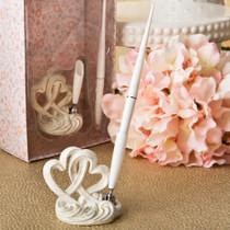 Vintage Style Double Heart Design Pen Set