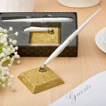Golden Elegance Collection Pen Set From White Dream