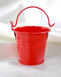 """2"""" Galvanised Pail With Handle Red"""