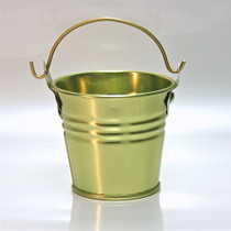 """2"""" Galvanised Pail With Handle Gold"""