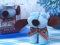 Adorable Blue Puppy Dog Towel