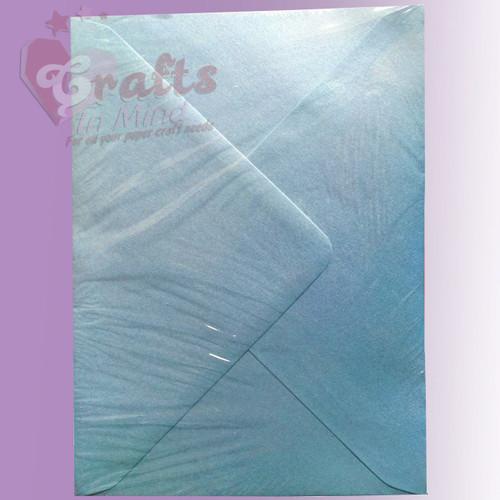 Pearl Blue Metallic Envelopes - C7, C6, C5, DL, 5'x7' Sizes