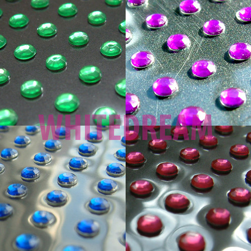 3mm - Self Adhesive Diamante Gems (Round)