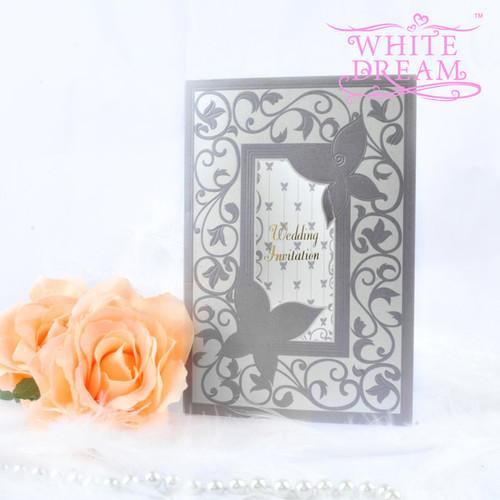 Personalised Elegant Butterflies Wedding Invitations