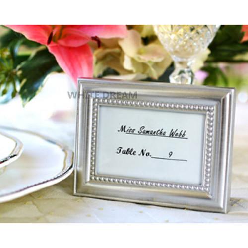 Silver Frame Place Card Holder & Photo Frame