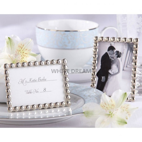 Silver Pearls - Miniature Photo Frames