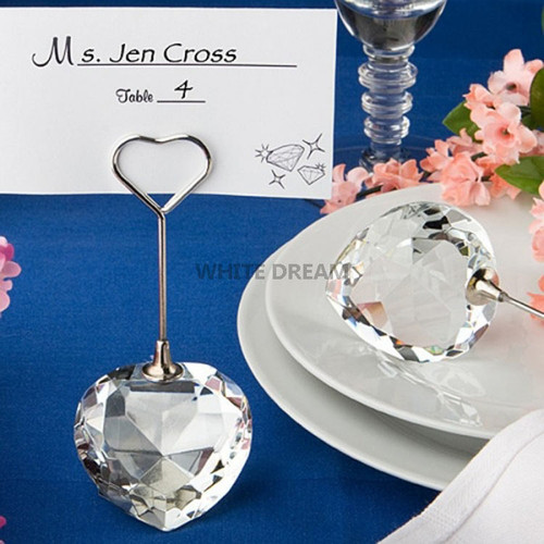 Crystal Heart - Place Card Holder