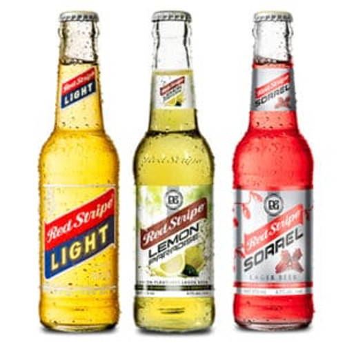 Red Stripe Light, Lemon and Sorrel Beer (3 bottles, 1 each flavour)