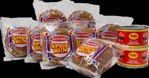 National Spice Bun 2XPenny Bun 2-8oz Tastee Cheese