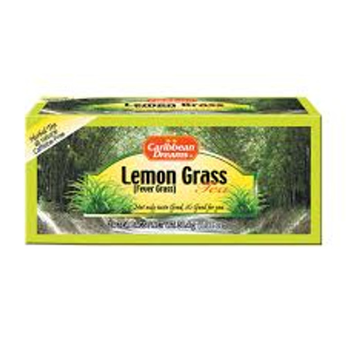 Caribbean Dreams Lemon Grass Tea, Fever Grass Tea, 24 tea bags, 100% Natural Lemon Grass Tea from Jamaica