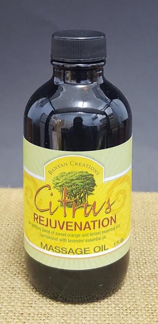 Citrus Rejuvenation Massage oil-4oz
