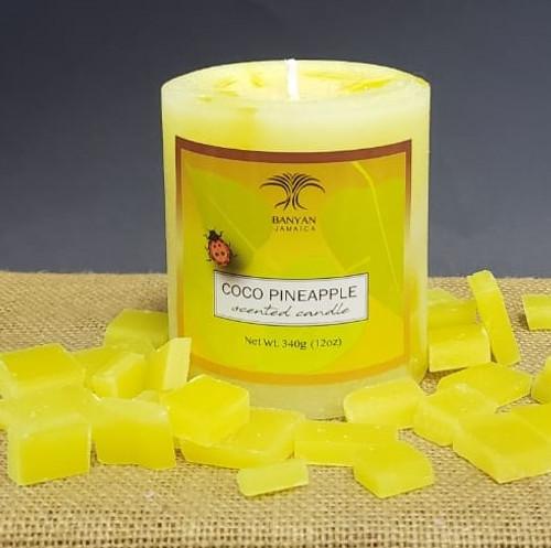 Coco Pineapple Chunky Pillar candle-12oz