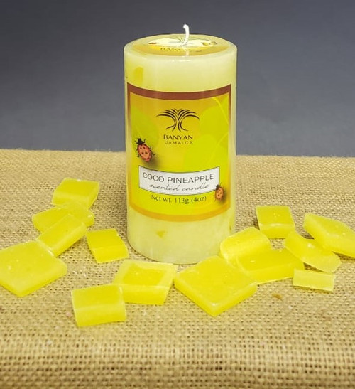 Coco Pineapple Chunky Pillar candle-4oz