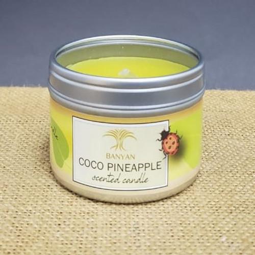 Coco Pineapple Travel Tin candle-3oz