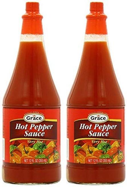 Grace Kennedy Jamaica Hot Pepper Sauce-12oz (2 pack)