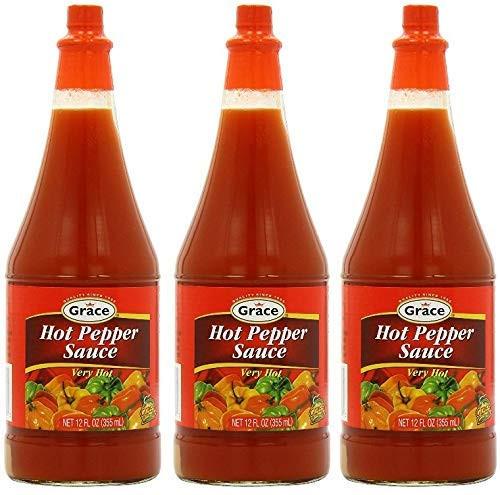 Grace Kennedy Hot Pepper Sauce-12oz (3 bottles)