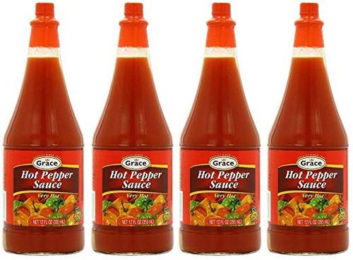 Grace Hot Pepper Sauce-12oz (4 bottles)