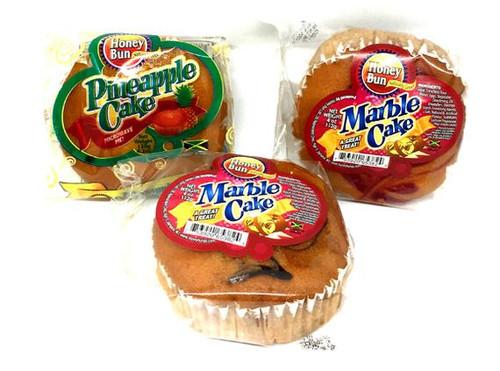 Honey Bun Cake Bundle-3 pack(1-Pineapple, 1-Chocolate and 1-Strawberry)