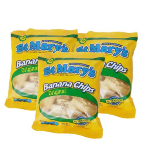 St. Mary's Banana Chips Original - 30g (pack of 3)
