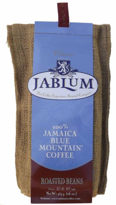 Jablum Jamaica Blue Mountain Coffee, Roasted Whole Bean, 16oz