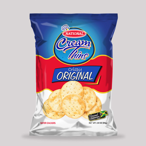 National Cream Thins Crackers - 90g (bundle of 3)