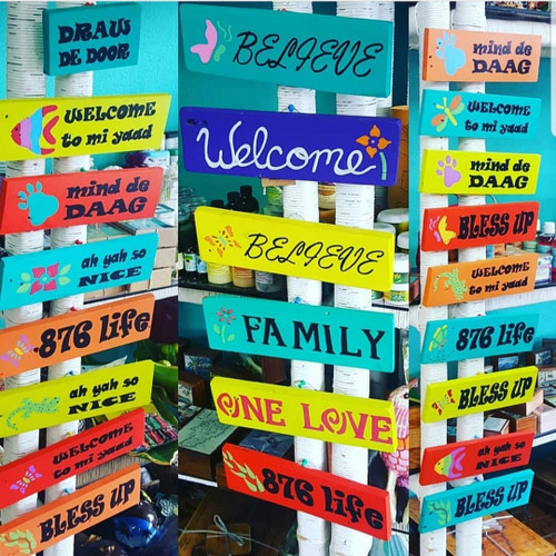 Wooden Home Decor Jamaican Signs
