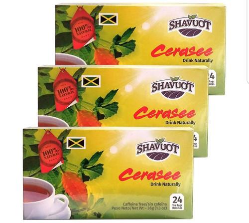 Shavuot Cerasee Tea (24 Tea Bags) pack of 3