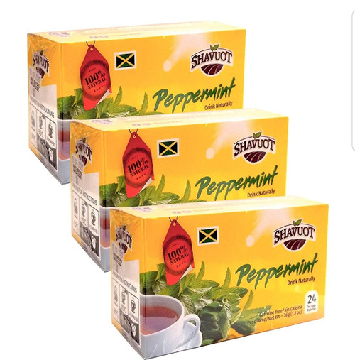Shavuot Peppermint Tea (24 Tea bags) pack of 3