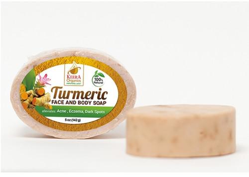 Keera Organics Turmeric Face & Body Soap- 142g (5oz)