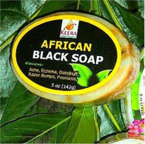 Keera Organics African Black Soap- 142g (5oz)