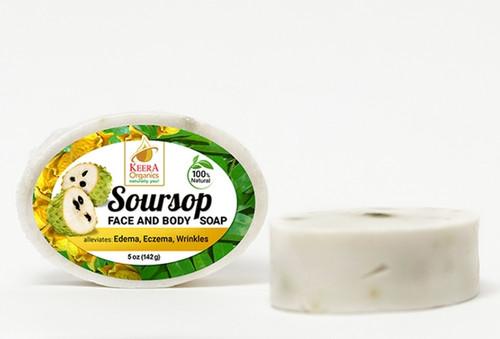 Keera Organics Soursop Face & Body Soap- 142g