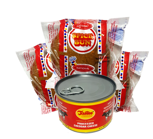 National Spiced 3 Buns + 250g Tastee Cheese Combo