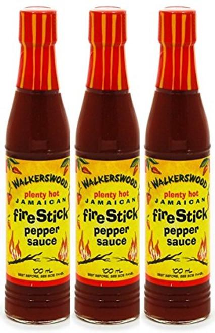 Walkerswood Plenty Hot Jamaican Fire Stick Pepper Sauce- 3oz (3 bottles)