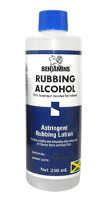 BENJAMIN RUBBING ALCOHOL- ISOPROPYL ALCOHOL 70%- 250 ML by BENJAMINS