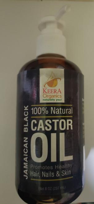Keera Organics Jamaican Black Castor Oil- 100% Natural- 8oz