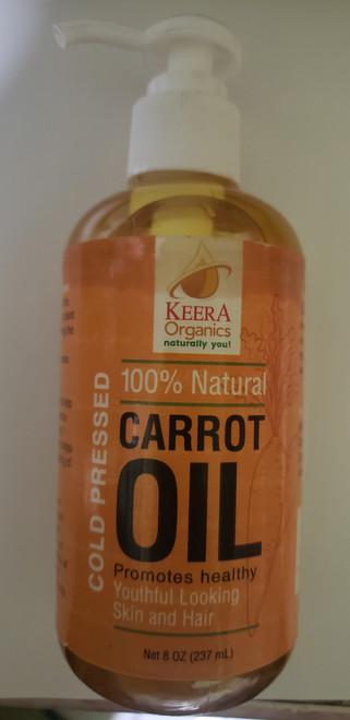 Keera Organics Carrot Oil- 100% Natural- 8oz