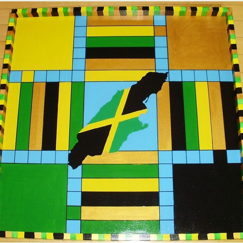 Jamaican Double-sided Ludo Board + Checkers (small)