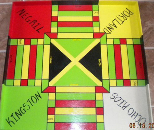 Jamaican Double-sided Ludo Board + Checkers (Large)
