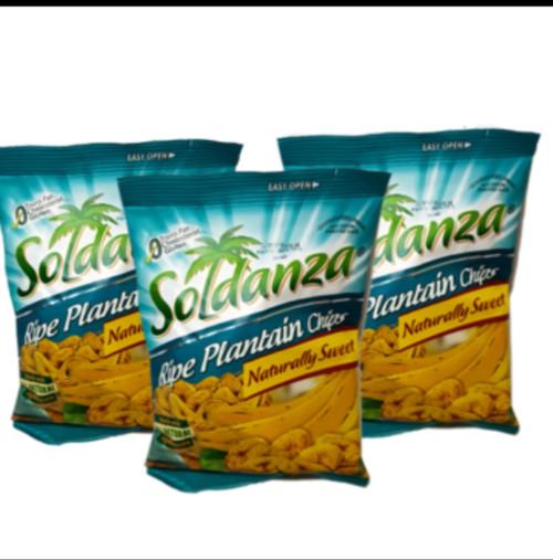 Soldanza Ripe Plantain Chips- bundle of 3 (42g)