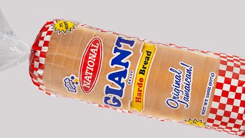 National Bakery Giant  White Sliced Hardough Bread-32oz
