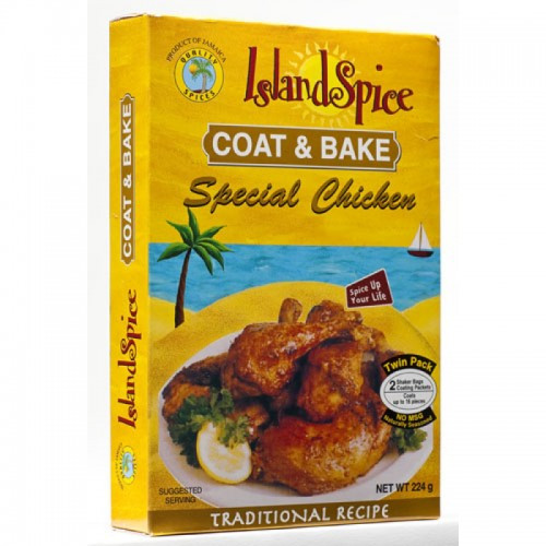 Island Spice Coat & Bake Special Chicken- 8oz (pack of 3)