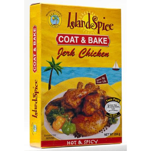 Island Spice Coat & Bake Jerk Chicken- 8oz (pack of 3)