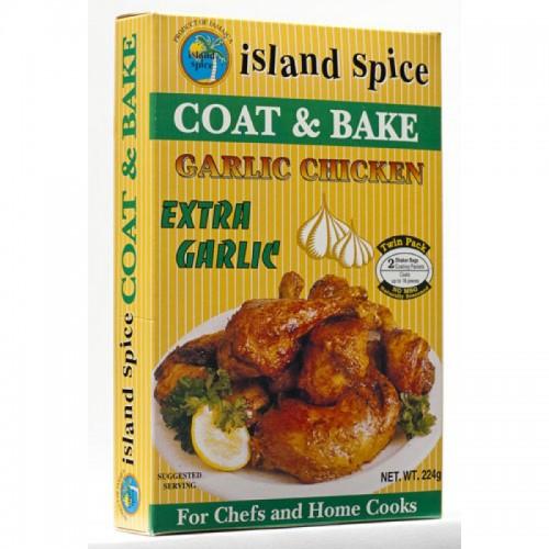 Island Spice Coat & Bake Garlic Chicken- 8oz (pack of 3)