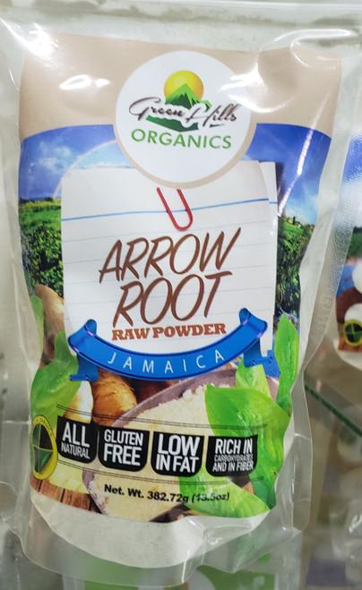 Green Hills Organics Jamaican Arrow Root Raw Powder-13.5oz