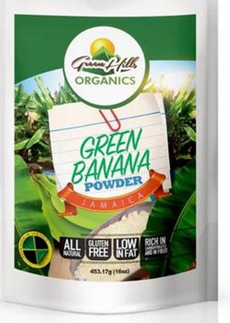 Green Hills Organics Gluten Free Jamaican Green Banana Powder-16oz