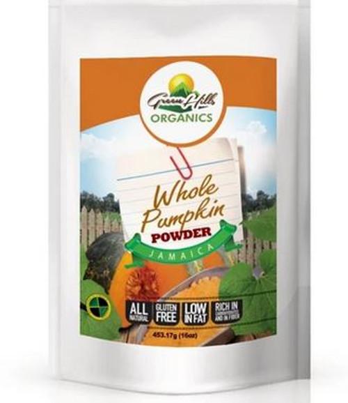 Green Hills Organics Gluten Free Jamaican Whole Pumpkin Powder (Calabaza)-13.5oz
