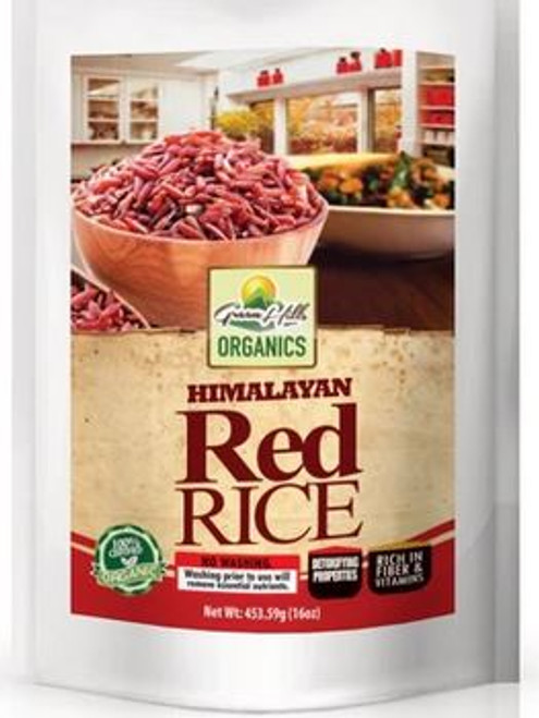 Green Hills Organics Himalayan Red Rice -High in fiber (16oz)
