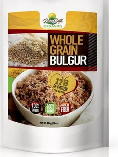 Green Hills Organics Bulgur Grain- Organic source of low-fat protein (16oz)