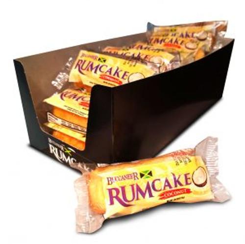 Buccaneer Pocket Size Rum Cake (10 Pack)- Coconut