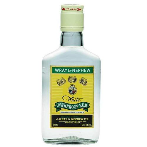 J Wray & Nephew White Overproof Rum-200ml (case of 24)